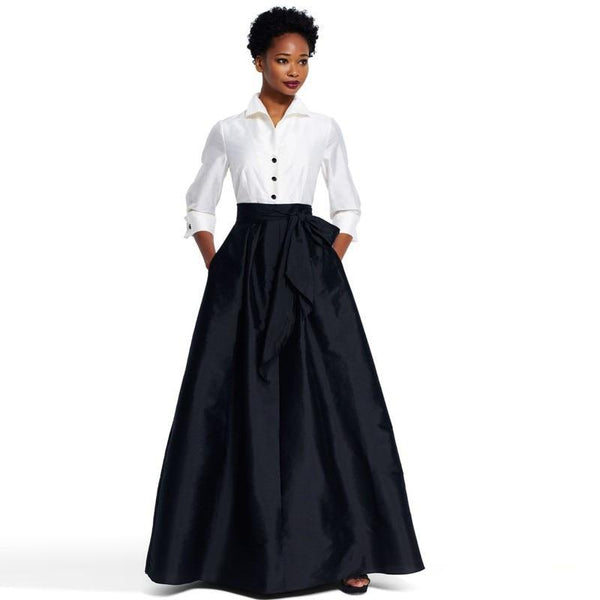 Custom Made Long Black Satin Floor Length Maxi Skirts skirts