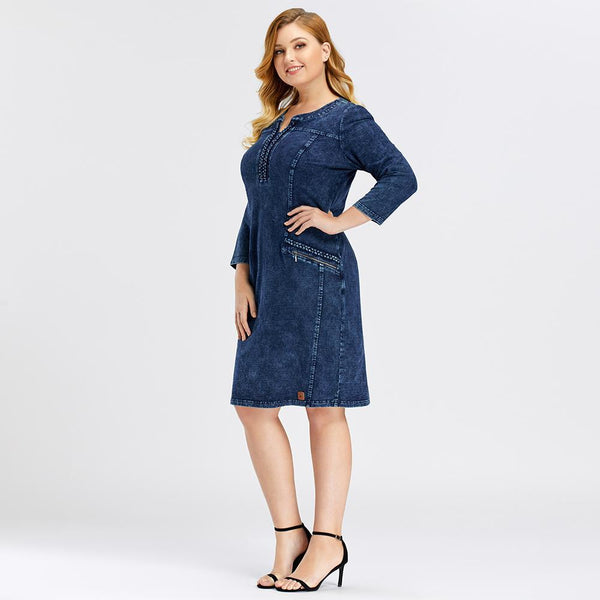 Denim Slim Fit Casual Dress dress