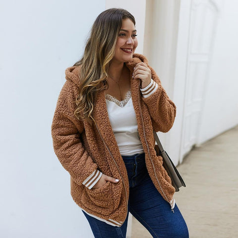 Elegant Faux Fur Coat coat