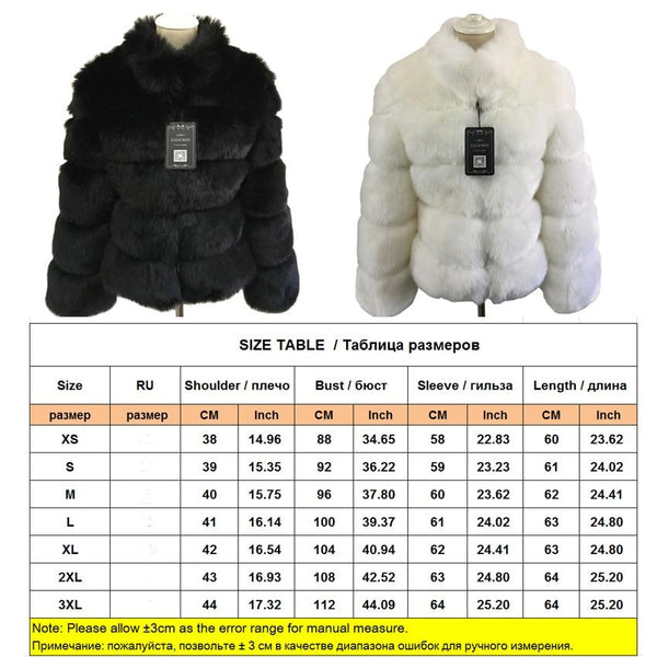 Fashion Luxury Faux Fox Coat Coats & Jackets