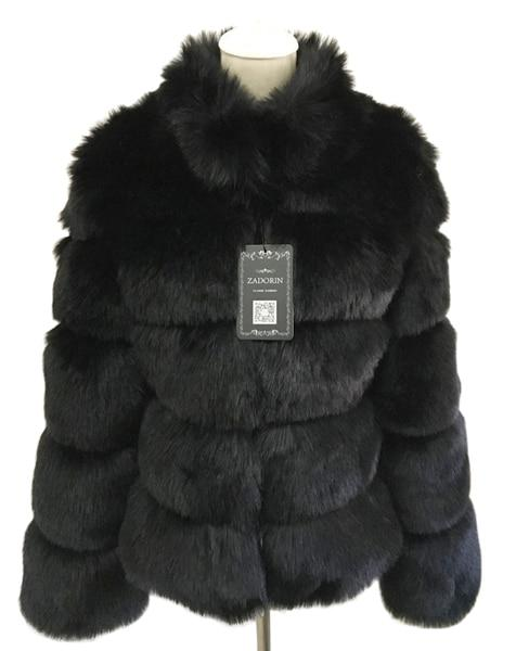 Fashion Luxury Faux Fox Coat Coats & Jackets Black S