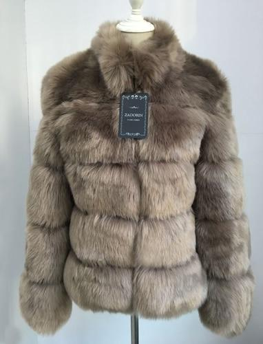 Fashion Luxury Faux Fox Coat Coats & Jackets Dark camel S