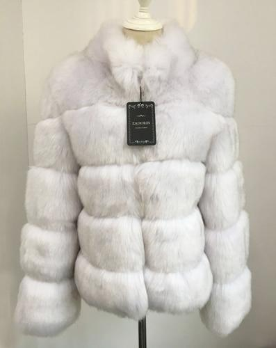 Fashion Luxury Faux Fox Coat Coats & Jackets Fox color XL