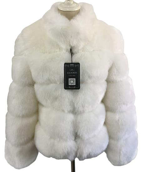 Fashion Luxury Faux Fox Coat Coats & Jackets White S