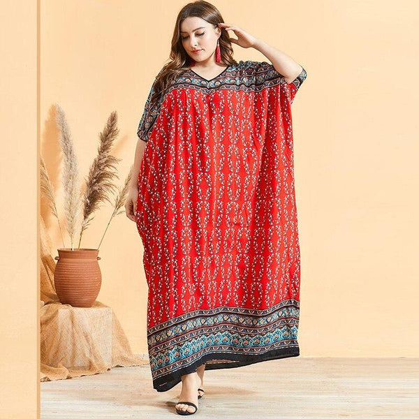 Fashion Retro Printing Bohemian Beach Dress dress