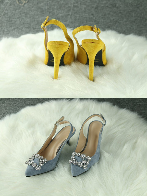 Fashion Rhinestone High Heel Leather Shoes shoes