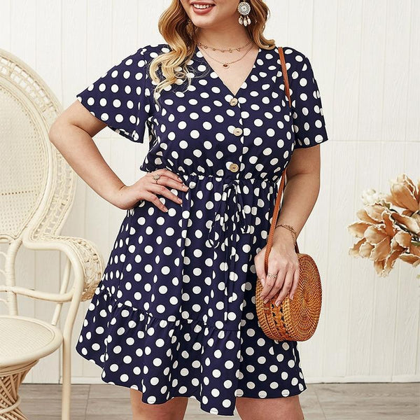 Fashion V Neck Short Sleeve Ruffles Dress dress