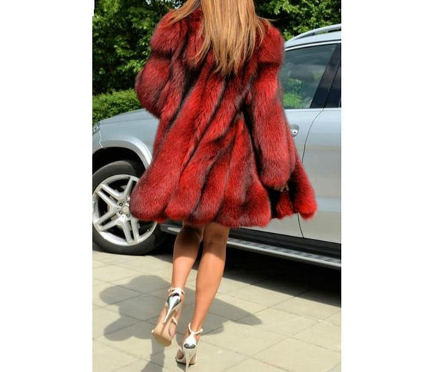 Faux Fox Fur Coat Women Jacket jacket