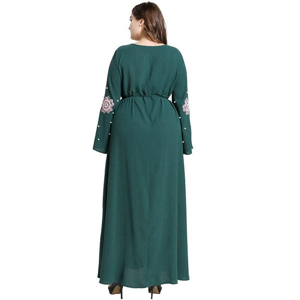 Flare Long Sleeve Floral Elegant Party Dress dress