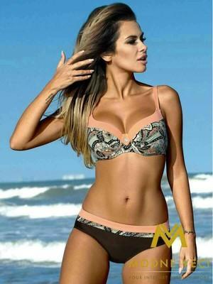 Flower Printed Brazilian Bikini Swimsuit