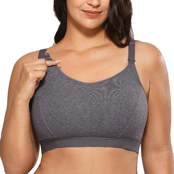 Full Support Comfort Maternity Nursing Bra Bra Grey One Size 3XL