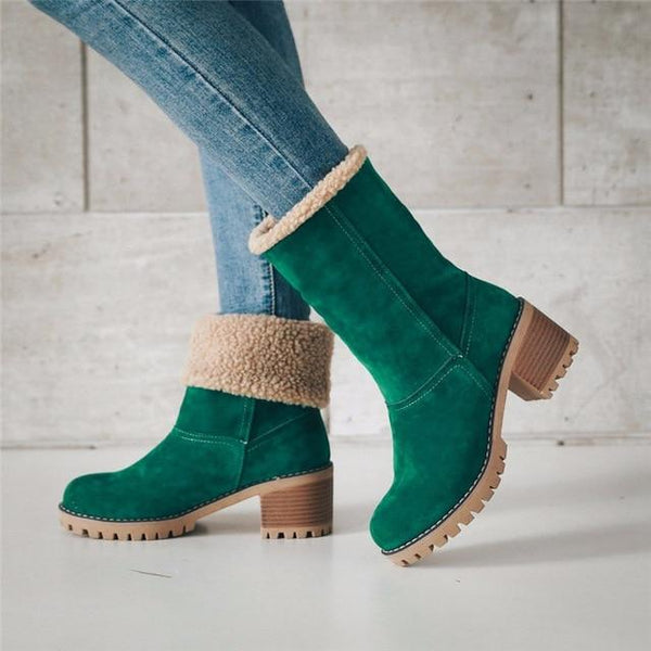 Fur Ankle Boot & Shoes shoes Green 42