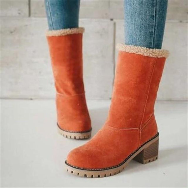 Fur Ankle Boot & Shoes shoes Orange 42