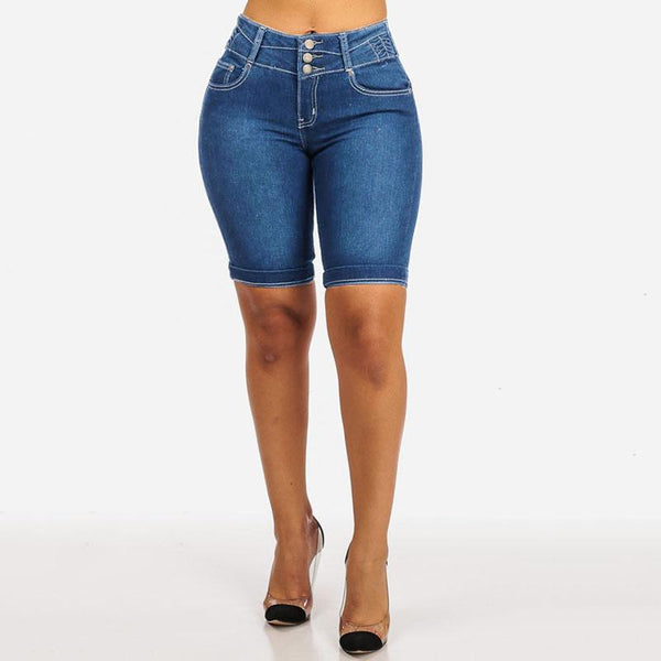 High Waist Mom Jean Shorts shorts