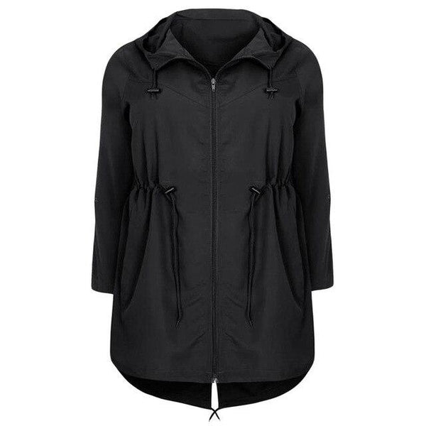 Hooded Outwear Autumn Lightweight Coat Coats Black XL