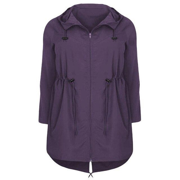 Hooded Outwear Autumn Lightweight Coat Coats Purple XL