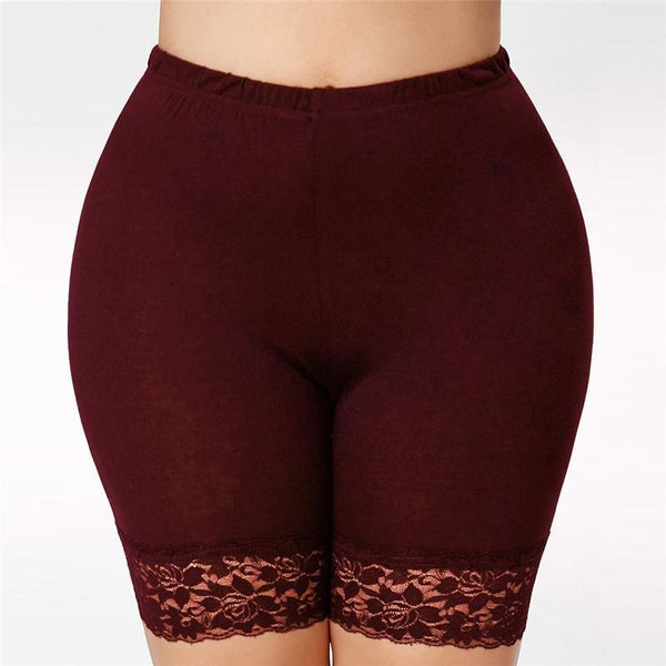 Lace Elastic Casual Short Leggings