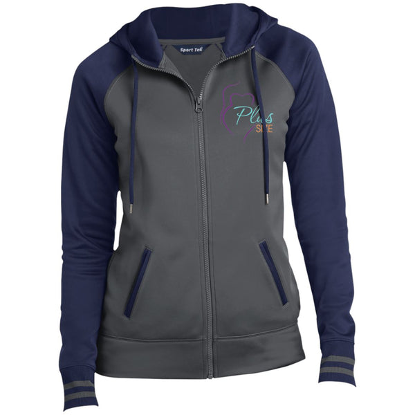 Ladies' Sport-Wick® Full-Zip Hooded Jacket