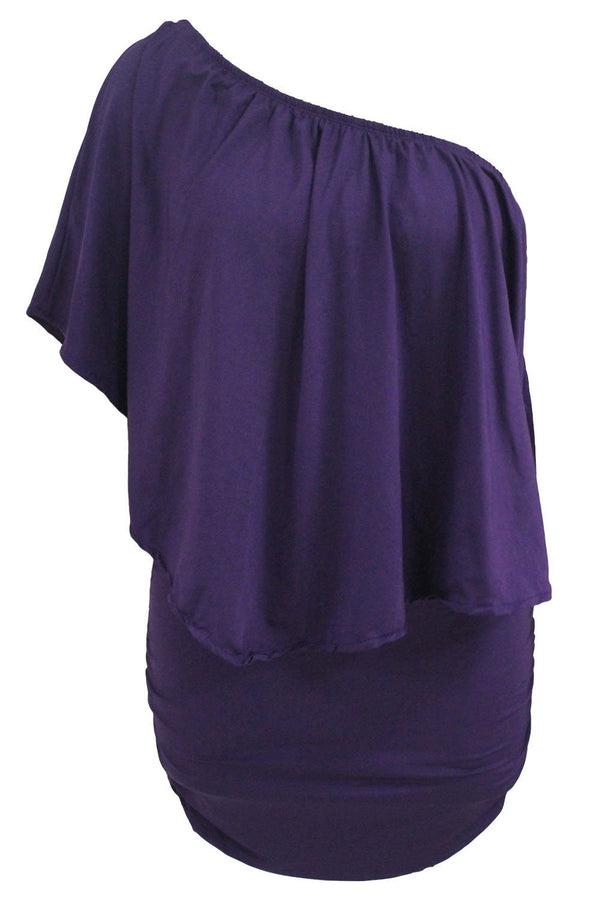 Layered Purple Mini Poncho Dress dress