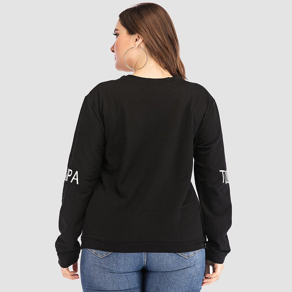 Letter Printed Long Sleeve Pullover pullover