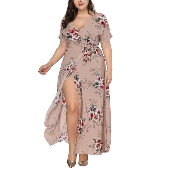 Long Floral Printed Boho Dress dress