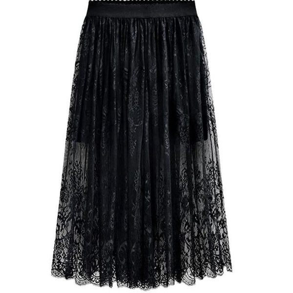 Long Lace High Waist Skirts skirts