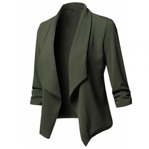 Long Sleeve Formal Office Cardigan jacket green M