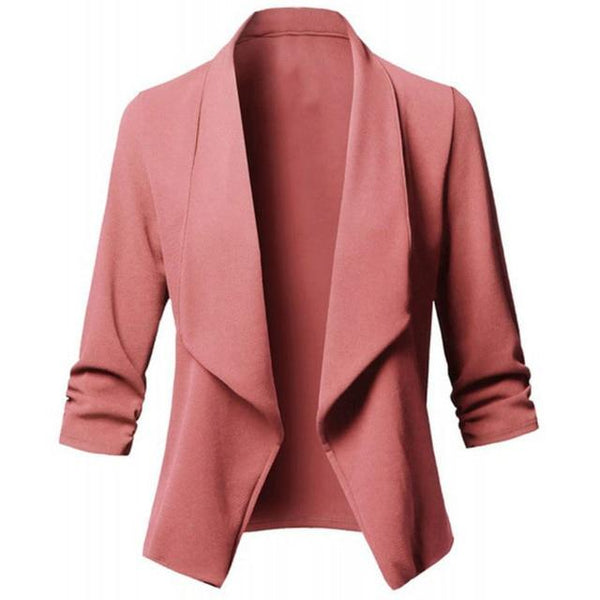Long Sleeve Formal Office Cardigan jacket Pink S
