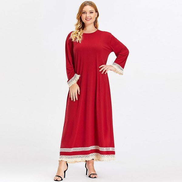 Long Sleeve Tassel Elegant Long Dress dress