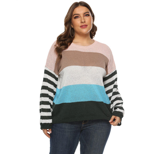 Long Sleeve Winter Striped Sweaters sweater