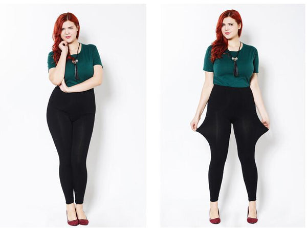 Modal Plus Size Leggings leggings black XXL