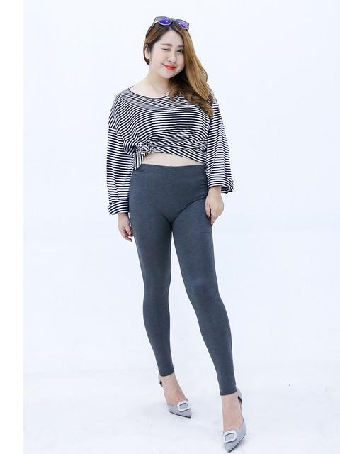 Modal Plus Size Leggings leggings deep gray XXL