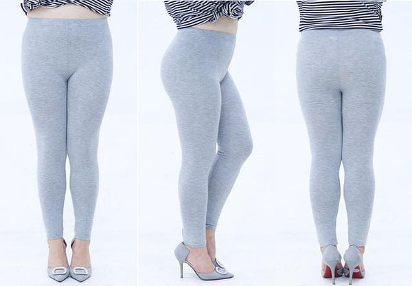 Modal Plus Size Leggings leggings light gray XXL