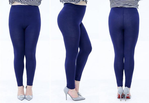 Modal Plus Size Leggings leggings navy blue 4XL