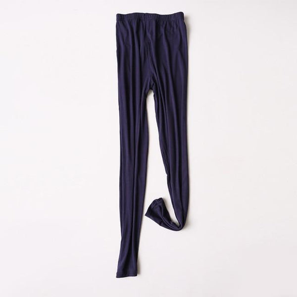 Modal Plus Size Leggings leggings navy blue XXL