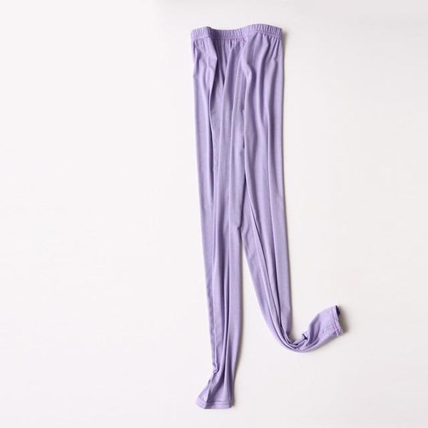 Modal Plus Size Leggings leggings purple XXL