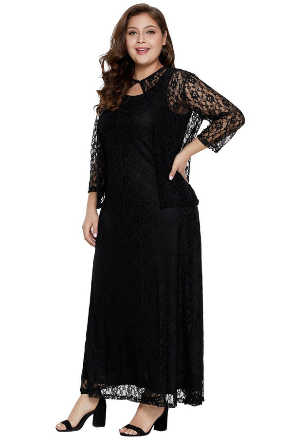 Nadia Plus Size Lace Dress dress