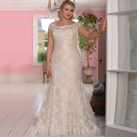 New Plus Size Wedding Dress Lace Vestidos de Novia Bridal Gown