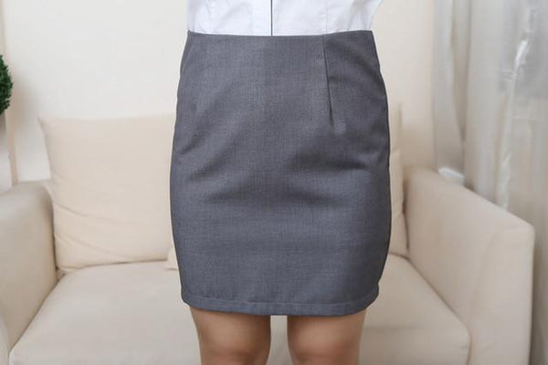 Office Lady Hip Knee-Length Pencil Skirt skirts Gray 5XL