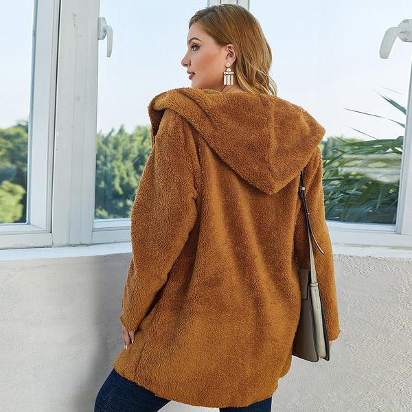 Outwear Hooded Cardigan Loose Coat Coats