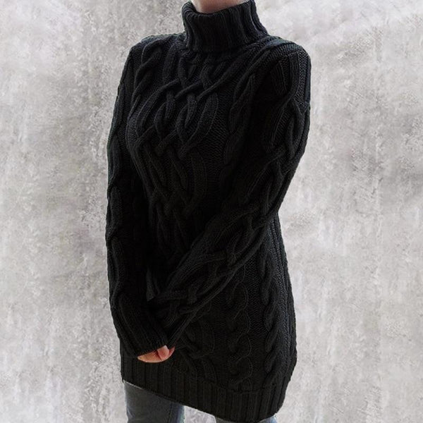 Oversized Turtleneck Sweater Dress Colors Sweaters