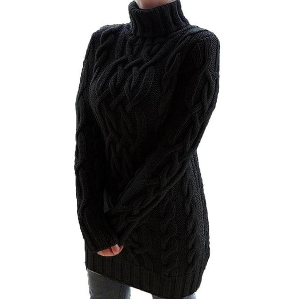 Oversized Turtleneck Sweater Dress Colors Sweaters M China Black