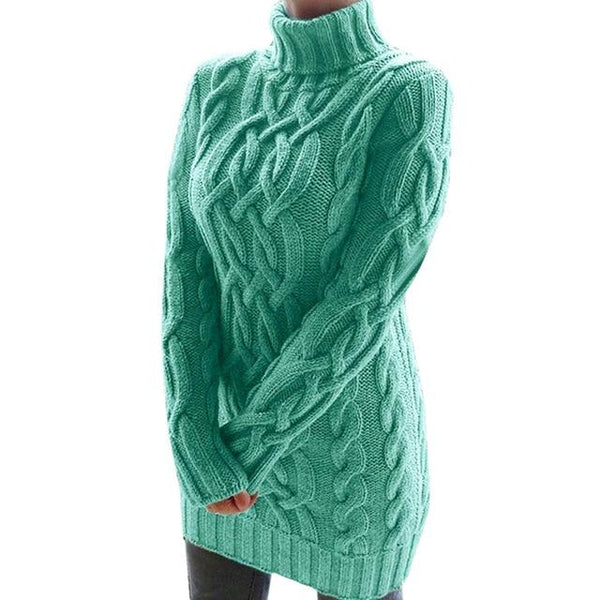 Oversized Turtleneck Sweater Dress Colors Sweaters M China Green