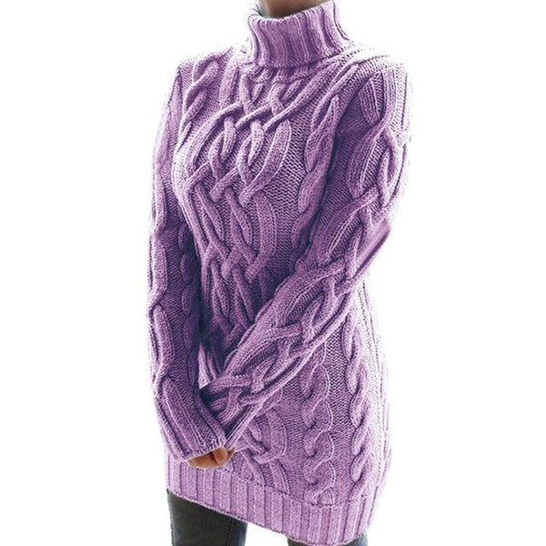 Oversized Turtleneck Sweater Dress Colors Sweaters XL China Purple