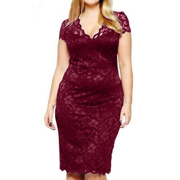 Party Night Sexy Dress in Colors dress Wine Red L