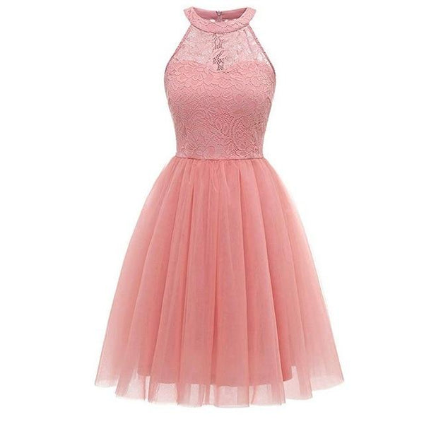 Party Prom Gown Long Back Short Front dress pink 1 4