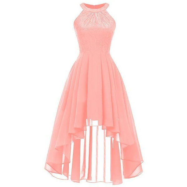 Party Prom Gown Long Back Short Front dress pink 4 4
