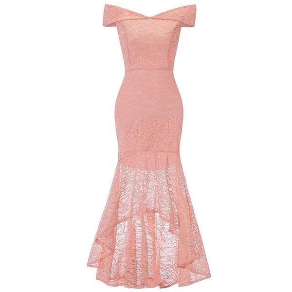 Party Prom Gown Long Back Short Front dress pink 4
