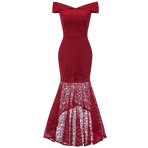 Party Prom Gown Long Back Short Front dress red 4