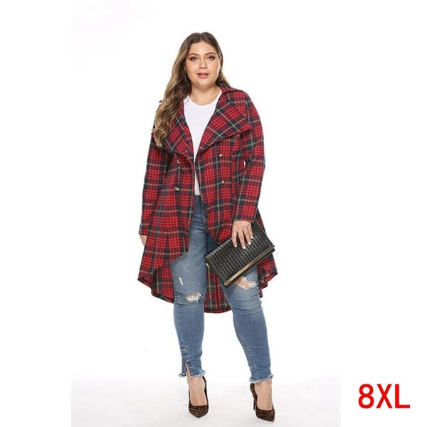 Plaid shirt jacket autumn & winter loose coat Coats & Jackets